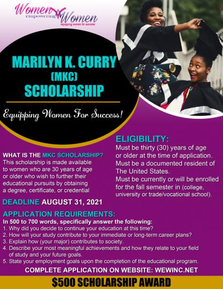 thumbnail_Audrey Brooks Scholarship Flyer 050521